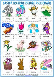 easter holidays esl vocabulary worksheets