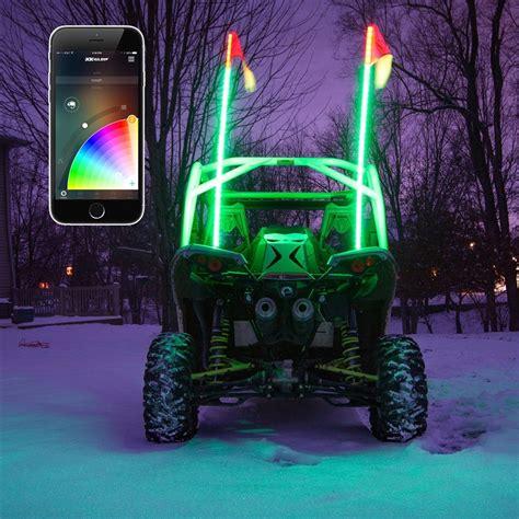 led glow lights 2x whip xkchrome advanced app led whip light kit