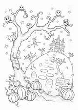 Coloriage Igloo Peur Imprimer Fait Coloring Qui Halloween Par Greatestcoloringbook Interieur sketch template