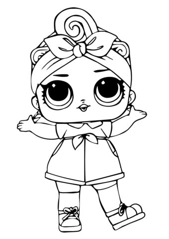 baby lol surprise doll coloring page