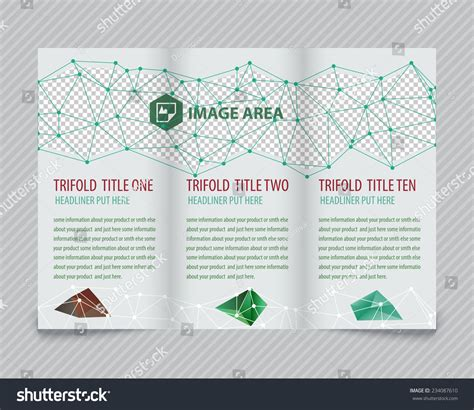 Brochure Design With Trifold Colorful Template Template Light Vector Design Trifold Brochure Stock Vector