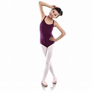 Child Kids Sleeveless Leotard Girls Cotton Ballet ...