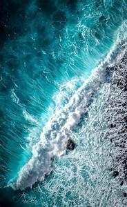 Wallpaper Ocean  Waves  Foam  Top View