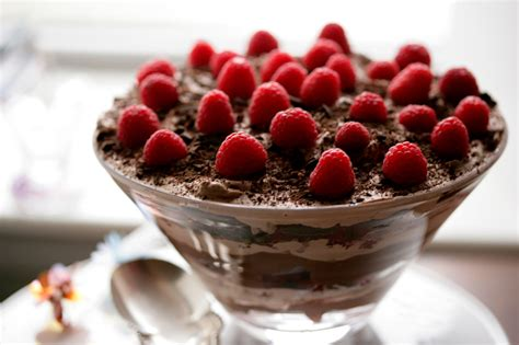 triple chocolate trifle  raspberries recipe nyt cooking