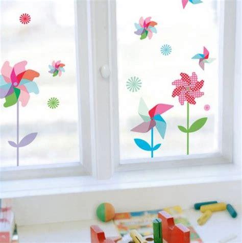 pin wheels decorative window decals happy spring
