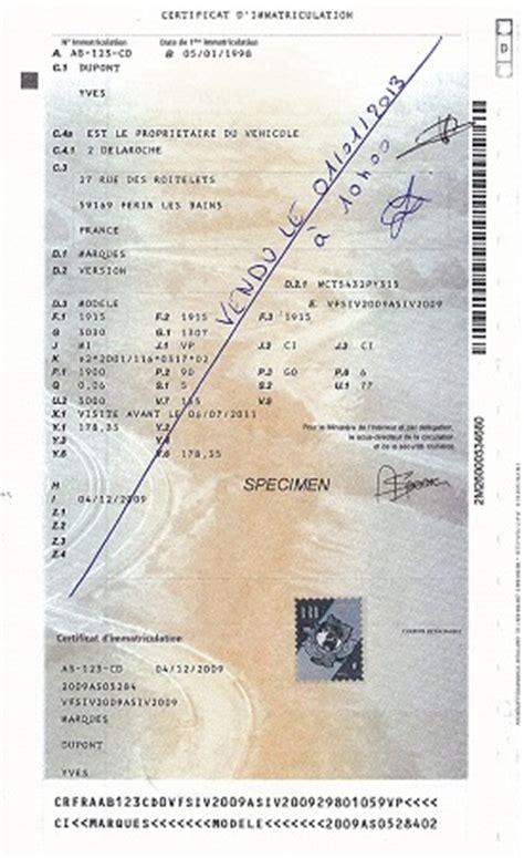 carte grise vente voiture certificat de cession moto pourquoi comment le remplir