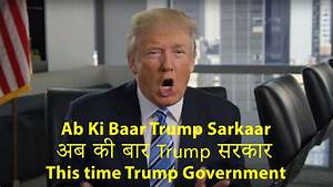 Donald Trump awkardly tries to speak Hindi in new campaign ...
