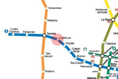 Cuitlahuac station map - Mexico City Metro