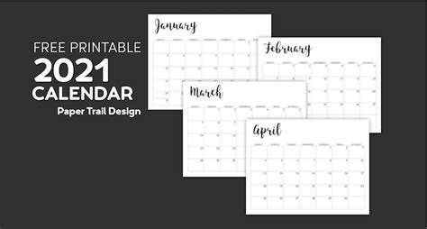 calendar printable  template paper trail design