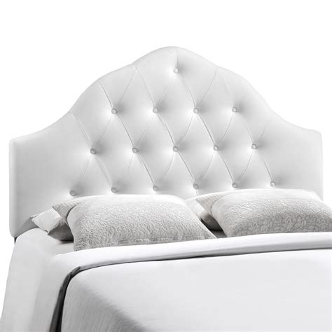 White Leather Tufted Headboard King by Sovereign Inspired Button Tufted King Faux Leather