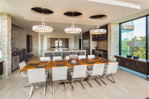 dining room large windows contemporary dining room