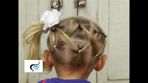 cute  simple horizontal zigzag ponytail hairstyles youtube