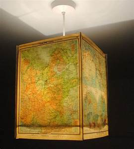 World, Map, Lamp, Shade, Square, Paper, Lampshade, Ceiling, Pendant