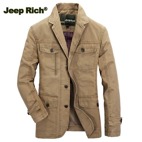 jeep rich jacket jeep rich 174 men cotton multi pocket single breasted casual