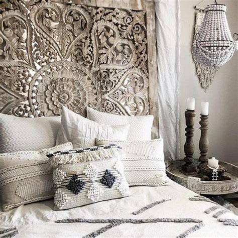 Large Thai Wall Art King Size Bed Sculpture Bohemian