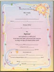Catholic Baptism Certificate Template