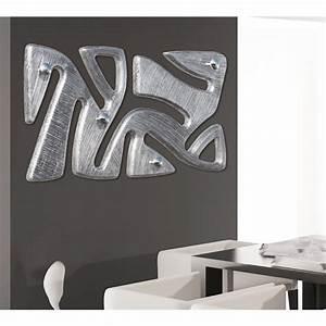 Porte Cintre Mural : porte manteau mural moderne avec d coration en feuille d 39 argent holt ~ Teatrodelosmanantiales.com Idées de Décoration