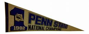 Vintage penn state football national champions 1982 team for Kitchen cabinet trends 2018 combined with penn state football wall art