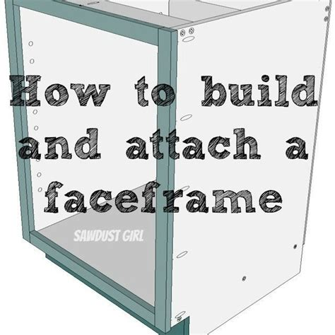 how to make cabinet faces how to build and attach a cabinet faceframe sawdust