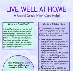 Mental Health Crisis Safety Plan