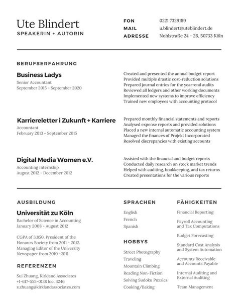 Lebenslauf Erstellen by Kreative Lebensl 228 Ufe Mit Canva Erstellen Karriereletter