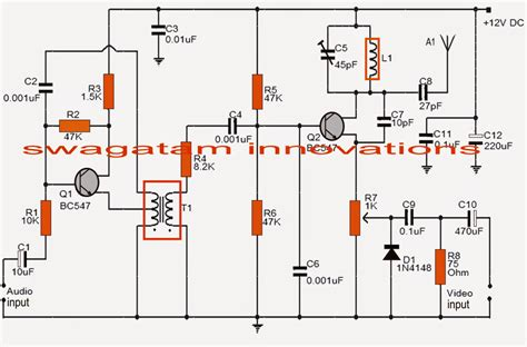 Simple Transmitter Circuit Electronic Projects