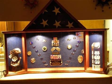 military retirement shadow box woodworking talk