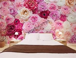 Papier Peint Fleuri Vintage : papier peint floral tapisserie panoramique rose sticker mural xxl romantique papier peint sol 3d ~ Melissatoandfro.com Idées de Décoration