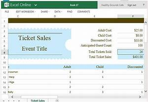 ticket sales tracker template for excel powerpoint With ticket sales spreadsheet template