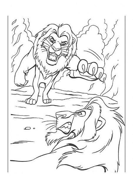 disegni da colorare disney re simba contro scar disegni da colorare gratis il re