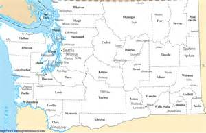Washington State County Map - A Map of Washington State Counties Washington
