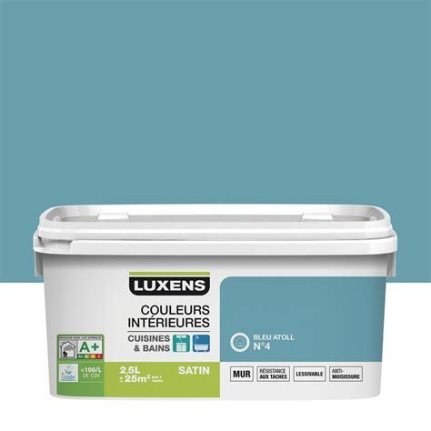v33 cuisine et bain peinture couleurs intérieures luxens bleu atoll 4 2 5 l
