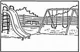 Coloring Park Patio Playground Colorare Giochi Parco Colorear Disegni Disegno Printable Dibujos Sheet Sheets Bambini Swing Clipart Zabaw Parque Escuela sketch template