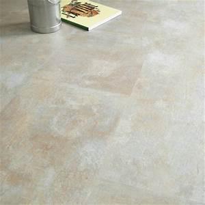 Revetement Sol Vinyle Clipsable : dalle sol pvc clipsable click 5g aspect pierre calcaire ~ Premium-room.com Idées de Décoration
