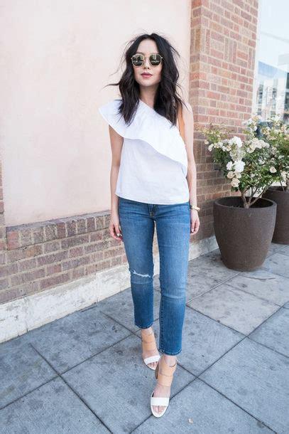 Top the fancy pants report blogger jeans shoes sunglasses shirt tank top pants sandals ...