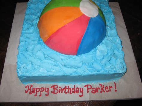 sweet design beach ball cake