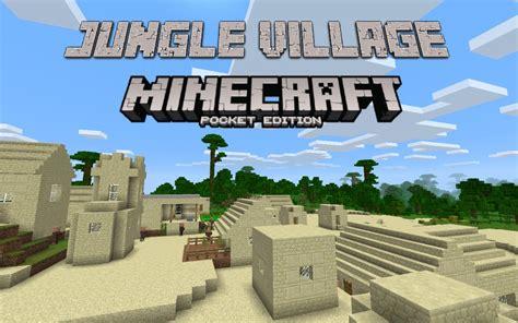 Cool Jungle Village Minecraft Pe Seed 0.14.2 [2016