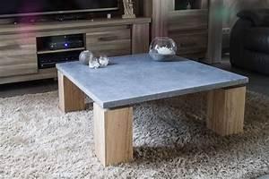 Table Beton Bois : jeliodesign cr ation de mobiliers design portails en ~ Premium-room.com Idées de Décoration