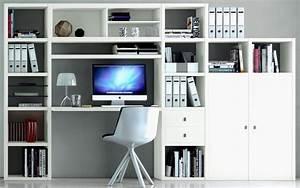 Schrankwand Mit Integriertem Schreibtisch : b ro ideen f r zuhause elegant tolle schrankwand mit ~ Watch28wear.com Haus und Dekorationen