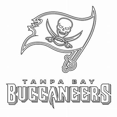Tampa Buccaneers Bay Coloring Pages Outline Rays