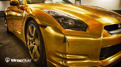 gold nissan car nissan gt r gold edition by wrapstyle