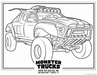 Coloring Monster Truck Trucks Pages Construction Printable