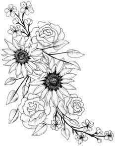 Super flowers tattoo drawing sunflowers 46 ideas #drawing #tattoo #flowers | Tattoos, Hip tattoo