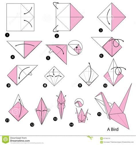 how to make an origami free coloring pages step by step instructions how to make origami a pigeon stock make a