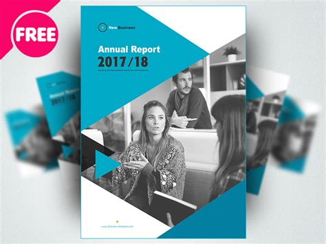 brochure annual report template psd  psd ui