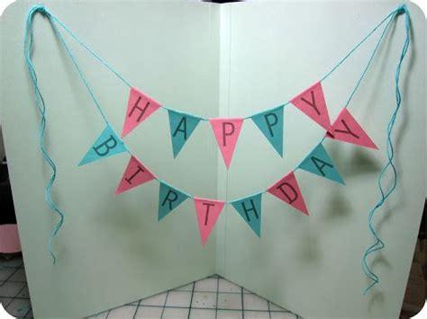 diy creative happy birthday banner  balloon card