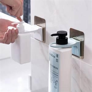 Wall, Mounted, Magic, Sticky, Shampoo, Hook, Shower, Hand, Soap, Bottle, Hanging, Holder, Bathroom, Hanger
