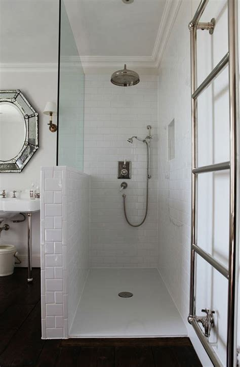 white subway tile  shower ideas  pictures