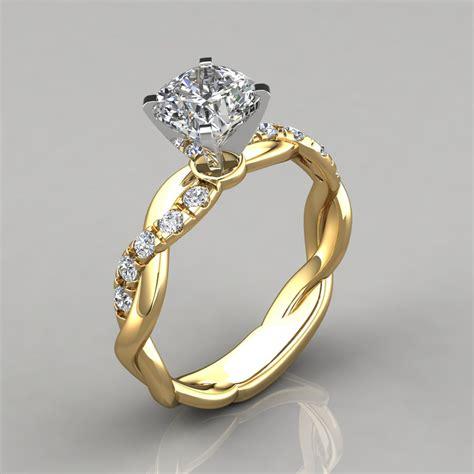 Twist Cushion Cut Engagement Ring  Puregemsjewels. Rectangular Engagement Rings. Anklet Length. Beautiful Jewellery. Longitude Latitude Bracelet