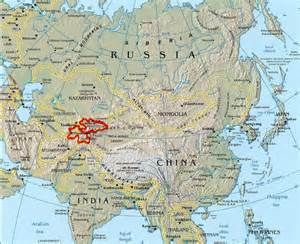 Central Asia Mountains Map